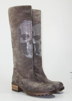 #Strategia #Boots #Skulls #Strass BB136 #madeinitaly #fashionshoes