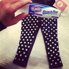 DIY Polka Dots : DIY Polka Dot Jeans  : DIY Clothes DIY Refashion