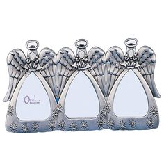 3 Angels Pewter Picture Frame