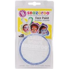 Reeves Snazaroo Face Paint 18ml: White by Reeves. $8.80. Brand New Item / Unopened Product. Reeves. 766416110008. 111-9100. Snazaroo Face Paint. This package contains (1) 18ml compact of the world's favorite face and body paint. This water-based paint features vivid colours, easy-on and easy-off, non-toxic and kid friendly, long lasting and FDA compliant. Washes off with simple soap and water. Paint may stain fabrics and on rare occasion cause an allergic reaction. Available in...