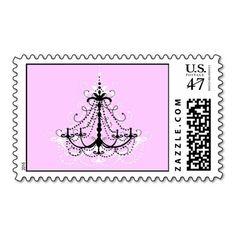Pink Chandelier Stamp