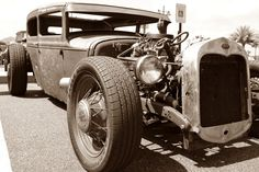 Hot Rod in Sepia, by Michael Brunt