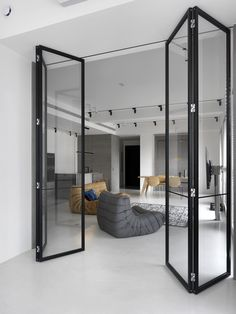 Do you love modern architecture? There are so many reasons why modern design is so popular. Here is some design inspiration for your modern home. Home Interior Design, Interior Architecture, Contemporary Interior Design, Interior Doors, Modern Interior, Zeitgenössisches Apartment, White Apartment, Contemporary Apartment, Industrial Interiors