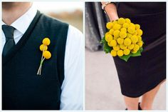 craspedia/billy buttons/billy balls by Modern Day Floral