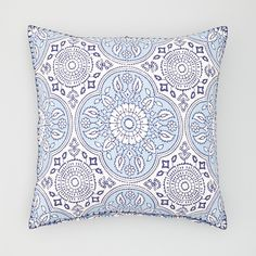 "JR by John Robshaw Madura Lapis Decorative Pillow, 20"" x 20"" | Bloomingdale's"