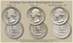 Silver Washington quarters value is tied closely to the price of silver. Silver Washington quarters value is tied closely to the price of silver. However, a few rare dates and mintmarks are very valuable. Rare Coins Worth Money, Valuable Coins, Valuable Pennies, Rare Pennies, Coin Dealers, Coin Worth, Error Coins, Coin Values, Old Money