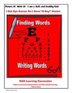 This language arts and health activity uses the letters in an Eye Exam Chart for students to create words.  A fun activity that kids will love and learn spelling, vocabulary, and healthy habits at the same time!Follow up this activity with the Eye Safety Checklist