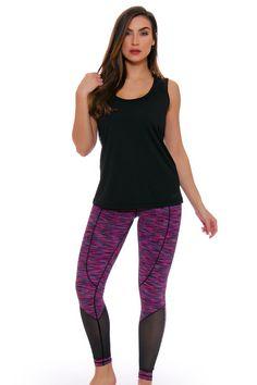 TLF Women's Spring Ryder Sangria Space Dye Workout Legging