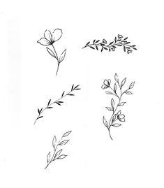 Branding - Petal and Wild — Gooseberry Moon - Tattoos - Kim Fuchs Kritzelei Tattoo, Tattoo Fonts, Piercing Tattoo, Tattoo Drawings, Clavicle Tattoo, Art Drawings, Script Tattoos, Mini Tattoos, Cute Tattoos