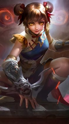Click Now! Mobile Wallpaper Android, Mobile Legend Wallpaper, Hero Wallpaper, Bruno Mobile Legends, Miya Mobile Legends, Anime Fantasy, Fantasy Girl, Mobiles, Game Character