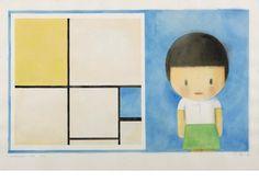 Liu Ye (Chinese, born 1964) Composition with a  Girl (Mondrian) #bonhams