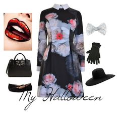 """My Halloween"" by tanyadisney on Polyvore featuring мода, Ted Baker, Monsoon, M&Co, Walking Cradles, Charlotte Olympia и Maison Michel"