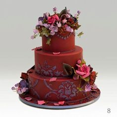Fabulous wedding cake created by executive chef Ron Ben-Israel, owner of Ron Ben-Israel Cakes in New York, New York....