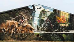 STREET ART UTOPIA » We declare the world as our canvasJurassic Park wall by Mad C in Germany » STREET ART UTOPIA