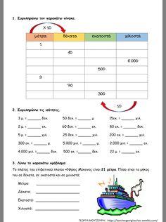 School Tips, School Hacks, Greek Language, Special Education, Maths, Learning, Greek, Studying, Teaching