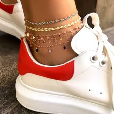 Neon Anklets Colorful 925 Silver Rose Gold Plated | Etsy Chic Office Outfit, Star Earrings, Silver Roses, Anklets, Or Rose, Rose Gold Plates, Timberland Boots, Handcrafted Jewelry, 925 Silver