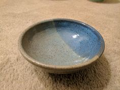Elina's speckled buff bowl dipped partially in teal, then panama all over on top