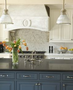 Love the marble, granite, and ceramic tile work in this kitchen! Phoenix-Arcadia Family Kitchen
