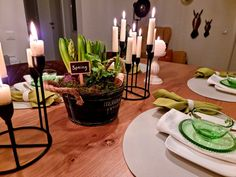 Candles, Spring, Table, Dekoration, Candy, Candle Sticks, Candle