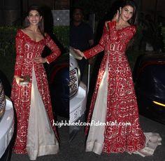 Jacqueline in Manish Malhotra Indian Wedding Outfits, Pakistani Outfits, Indian Outfits, Indian Clothes, Kurti Designs Party Wear, Lehenga Designs, Indian Designer Suits, Indian Gowns Dresses, Ethnic Dress