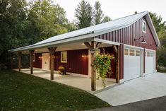 See exterior remodels from Bartelt in the Greater Milwaukee Area. Building A Pole Barn, Pole Barn Garage, Metal Shop Building, Pole Barn House Plans, Garage House Plans, Pole Barn Homes, Barn Plans, Building Design, Building A House