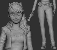Batgirl by Jean Marcel | Cartoon | 3D | CGSociety