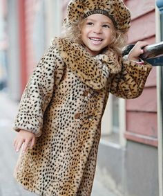 This is just too cute!  My granddaughter isn't even born yet and I'm already thinking she NEEDS this Donna Salyer Leopard Diva Coat by Luxe Looks: Kids' Faux Fur Apparel on #zulily today!  Use my link to connect:  http://www.zulily.com/invite/msoda804  if you're interested in finding great buys at up to 90% off.  New items each day but they don't last more than a week, if that!  Now if they only had one that looked like a yellow chick!!