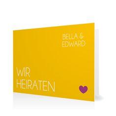 Hochzeitseinladung Klares Ja in Maisgelb - Klappkarte flach #Hochzeit #Hochzeitskarten #Einladung #Foto #modern #Typo https://www.goldbek.de/hochzeit/hochzeitskarten/einladung/hochzeitseinladung-klares-ja?color=maisgelb&design=5851f&utm_campaign=autoproducts