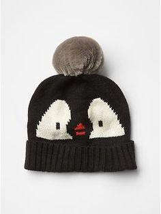 Penguin pom-pom beanie
