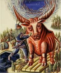 """The collection """"Karelo-Finnish Epic Poem Kalevala in the Art of Karelian, Russian and Foreign Artists"""" Scandinavian Art, My Heritage, Finland, Mythology, Moose Art, Poems, Hero, Pictures, Animals"""