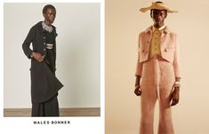 Grace Wales Bonner's archive Wales Bonner, Interview Style, Revival Clothing, The V&a, Fashion Articles, Portrait, Editorial Fashion, Fashion Photography, Menswear