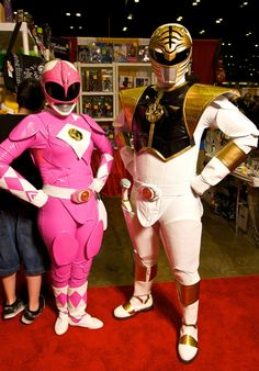 White and Pink Power Rangers
