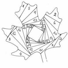 "ru / vihrova - Album ""Beautiful ideas for quilt"" Iris Folding Templates, Iris Paper Folding, Iris Folding Pattern, Paper Piecing Patterns, Patchwork Patterns, Quilt Patterns, Crochet Patterns, Dishcloth Knitting Patterns, Knit Dishcloth"