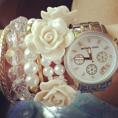 I just love stacked jewelry!