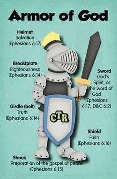 Everyday, put on the full Armour of God.