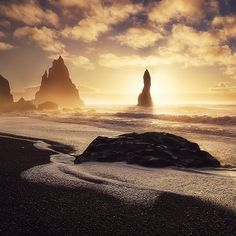 By felix.roeser: -One step to eternity-Reynisdrangar Iceland 2014 Lately I went through my archives and found this shot from an epic morning on the southcoast of Iceland I havent published before. When we arrived in the evening at the foggy and dark coast of Vik after a 400km escape from a bad weatherfront in the east we would never have thought that the next morning would bring such a gorgeous Sunrise. The spray of the sea and the golden sunlight breaking through the clouds let the beach…