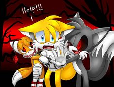 Tails Doll,Tails and Tails.exe by DarkheartPie on DeviantArt Infinity Drawings, Tails Doll, Alice Angel, The Way He Looks, Sonic Fan Art, Prehistoric Animals, Horror Art, Creepypasta, Furry Art
