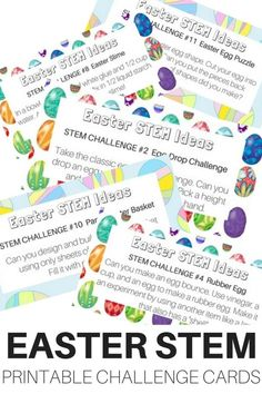 Easter Stem Challenge Cards Free Printable For Easter Kids Activities Easter Stem Activities And Easter