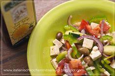 leich und firsch schmeckt dieser #griechische #Salat mit #Olivenol Gold der #Maremma von #Frantoio San Luigi