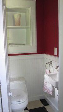 Tiny Powder Room Traditional Bathroom New York Brinkman Architecture