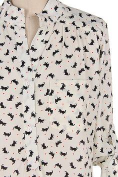 Kitten Shirt in Ivory