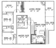 House Plan 039 00381   Traditional Plan: 2,500 Square Feet, 3 Bedrooms, 3  Bathrooms