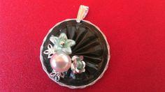 Nouveauté 2015 - Pendentif capsules nespresso et fleurs : Pendentif par tine-creations