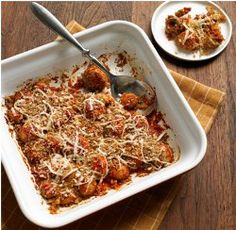"""Fried"" Mushroom Parmesan Bake It's time to rethink average everyday casserole recipes! This recipe for ""Fried"" Mushroom Parmesan Bake from The Biggest Loser's Devin Alexander is perhaps one of the tastiest healthy casserole recipes for you to try. Best of all, this is one of those vegetarian recipes that even meat eaters will devour."