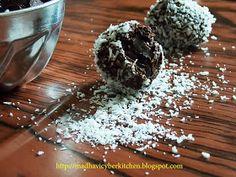 Coconut Milk Truffle, Coconut Truffle, Truffle, Coconut Milk, Dark Chocolate, Desiccated Coconut