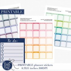 Calligraphy TO DO heart checklist. Printable planner stickers. 75 full boxes (1.5x1.625) for the HORIZONTAL Erin Condren Planner. 25 boxes