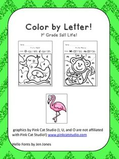 Color by Letter Alphabet Book!