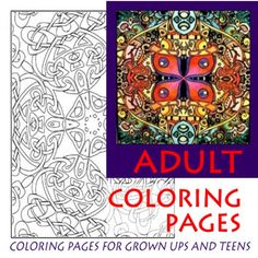 Adult coloring pages and coloring pages for teens are recommended for relaxation, therapy, and self discovery by therapists and art educators.  Keep minds sharp with coloring pages for adults.