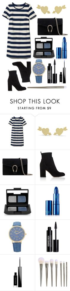 """The Seven Seas"" by magriatrix ❤ liked on Polyvore featuring L.L.Bean, Jennifer Meyer Jewelry, Gucci, Gianvito Rossi, NARS Cosmetics, Lipstick Queen, Edward Bess and Givenchy"