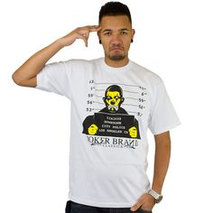 T-shirt Joker Brand Locked Up white